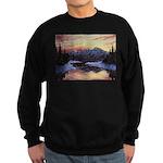 Winter sunset scene Sweater