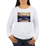 Winter sunset scene Long Sleeve T-Shirt