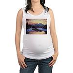 Winter sunset scene Maternity Tank Top
