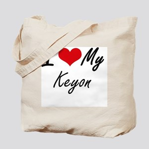 I Love My Keyon Tote Bag