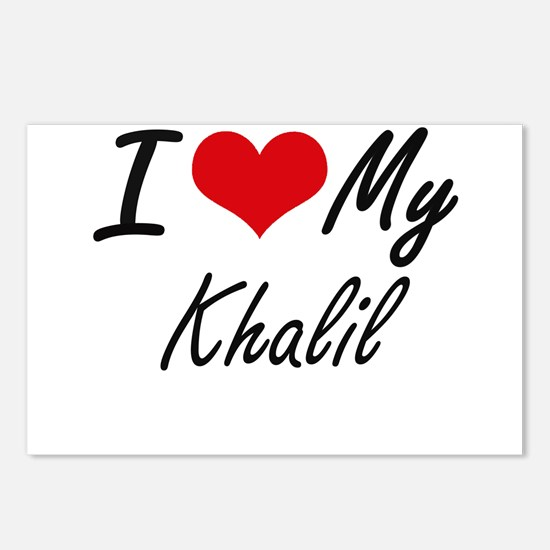 I Love My Khalil Postcards (Package of 8)