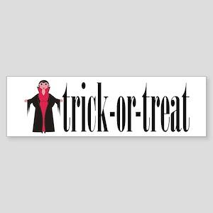 Trick-or-Treat Vampire Bumper Sticker