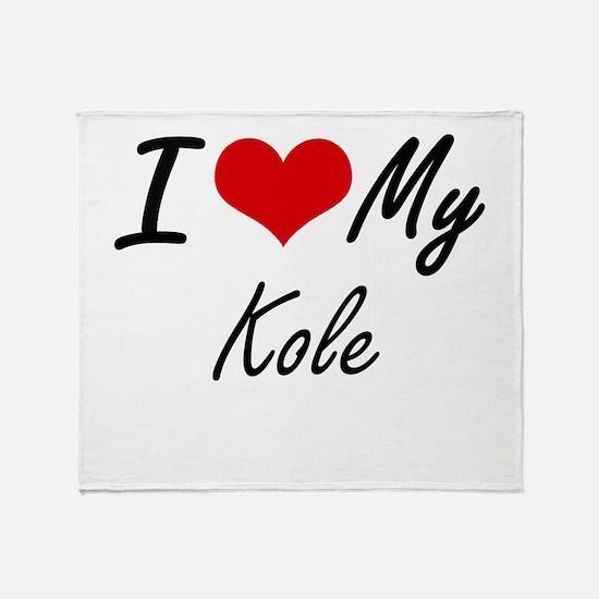 I Love My Kole Throw Blanket