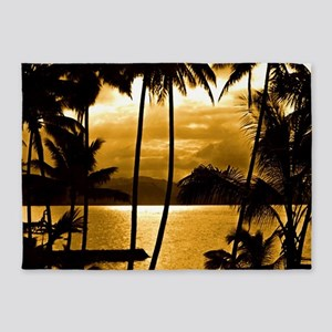 Tropical Sunset 5'x7'Area Rug