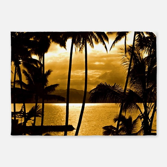 Tropical Sunset 5'x7'Area Rug