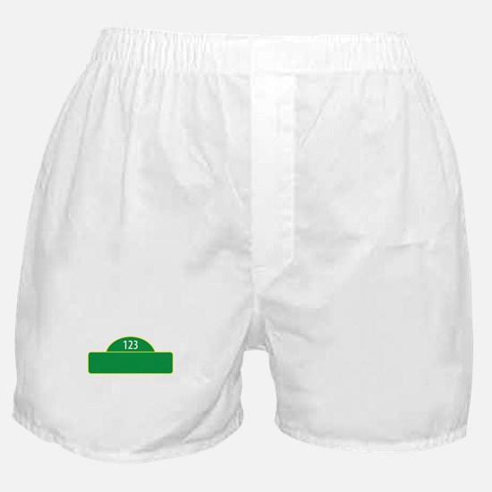 Child Street Sign Boxer Shorts