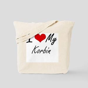 I Love My Korbin Tote Bag