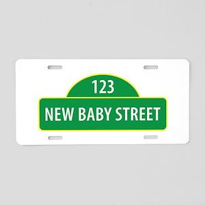 New Baby Street Aluminum License Plate