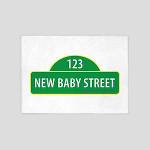 New Baby Street 5'x7'Area Rug