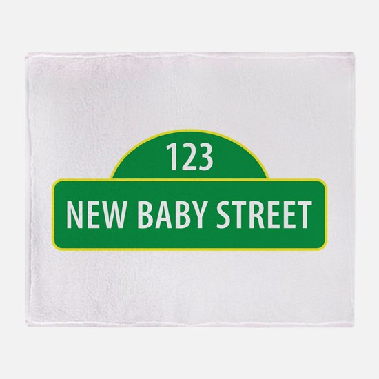 New Baby Street Throw Blanket