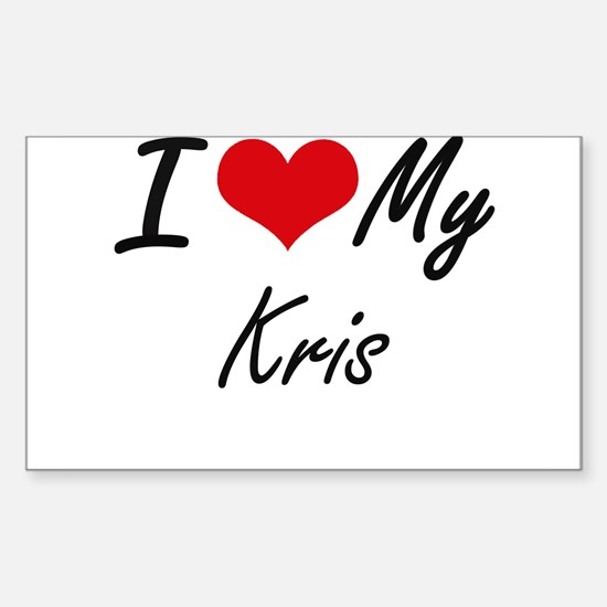 I Love My Kris Decal