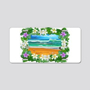Aloha Hawaii Aluminum License Plate