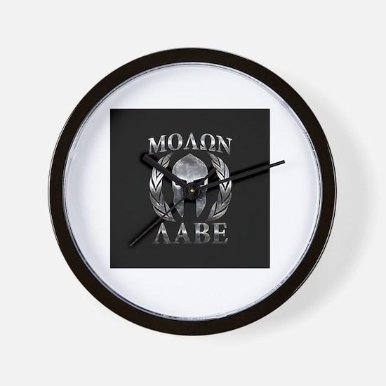 Cute Molon labe Wall Clock