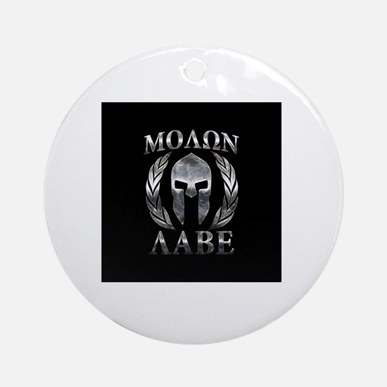 Unique Molon labe Round Ornament