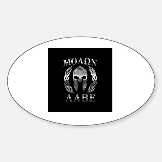 Unique Molon labe Sticker (Oval)