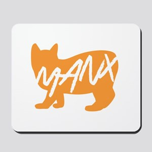 Manx Cat (Orange) Mousepad