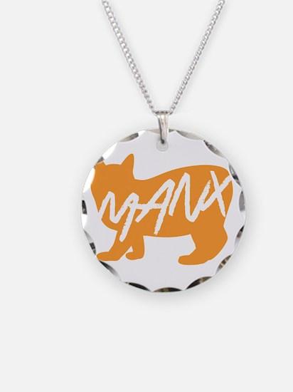Manx Cat (Orange) Necklace