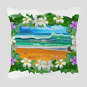Aloha Hawaii Woven Throw Pillow