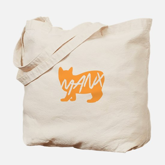 Manx Cat (Orange) Tote Bag