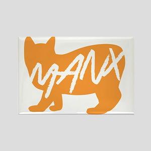 Manx Cat (Orange) Magnets