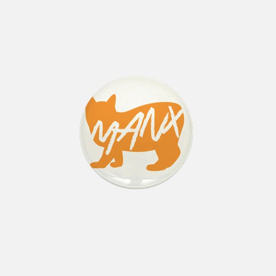 Manx Cat (Orange) Mini Button