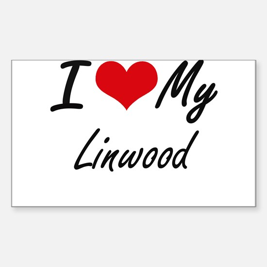 I Love My Linwood Decal