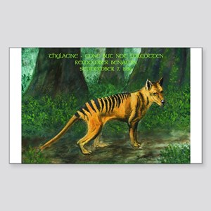 Thylacine Rectangle Sticker
