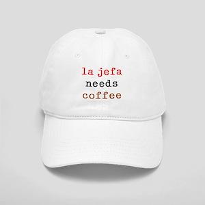la jefa needs coffee Cap