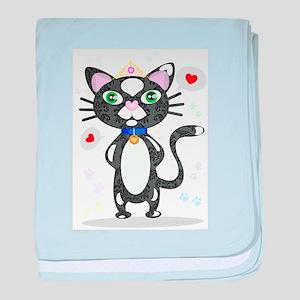 Princess Tuxedo Cat baby blanket