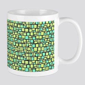 Green Mosaic Mugs