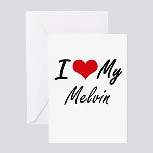 I Love My Melvin Greeting Cards