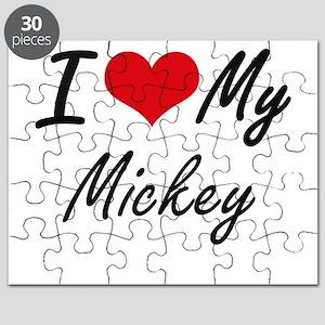 I Love My Mickey Puzzle