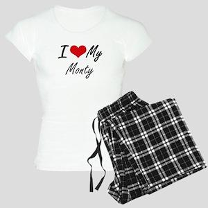 I Love My Monty Women's Light Pajamas