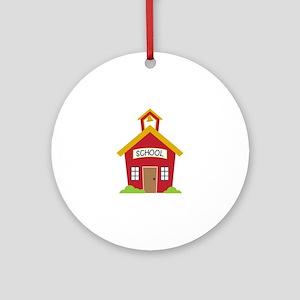 School House Round Ornament