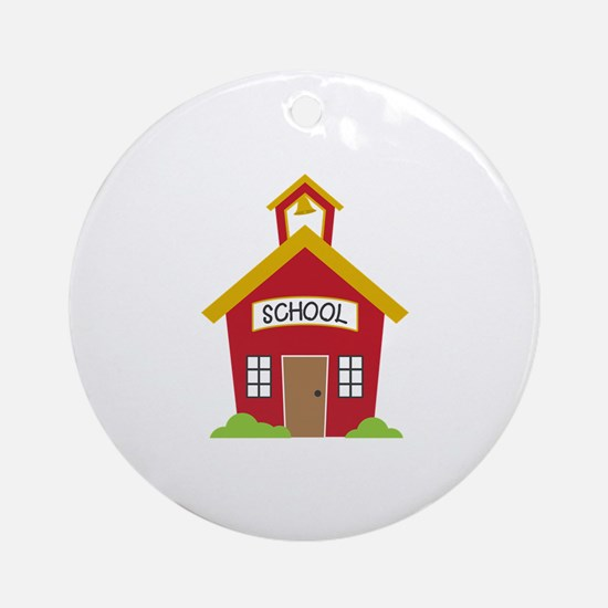 School House Round Ornament