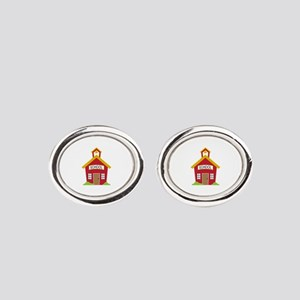 School House Oval Cufflinks
