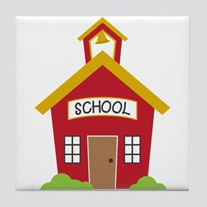 School House Tile Coaster