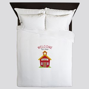 Welcome To School Queen Duvet