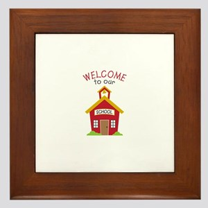 Welcome To School Framed Tile