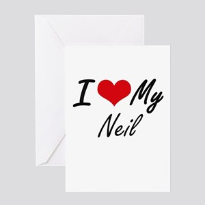 I Love My Neil Greeting Cards