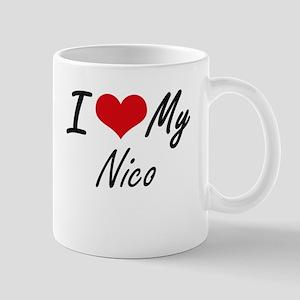 I Love My Nico Mugs
