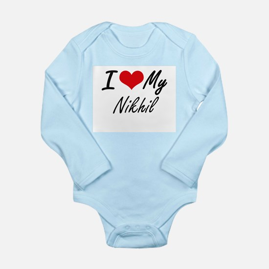 I Love My Nikhil Body Suit