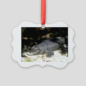 Alligator Sunbathing Ornament