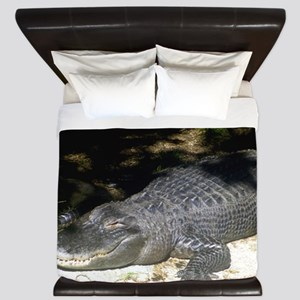 Alligator Sunbathing King Duvet