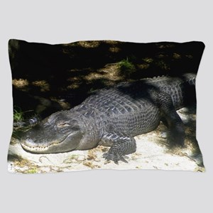 Alligator Sunbathing Pillow Case