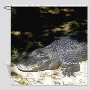 Alligator Sunbathing Shower Curtain