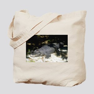 Alligator Sunbathing Tote Bag