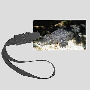 Alligator Sunbathing Luggage Tag