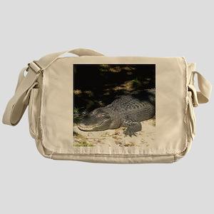 Alligator Sunbathing Messenger Bag