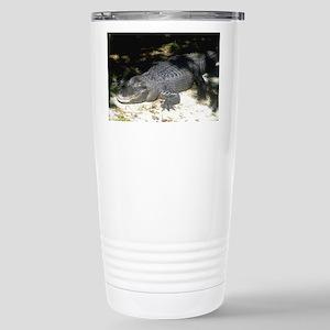 Alligator Sunbathing Travel Mug